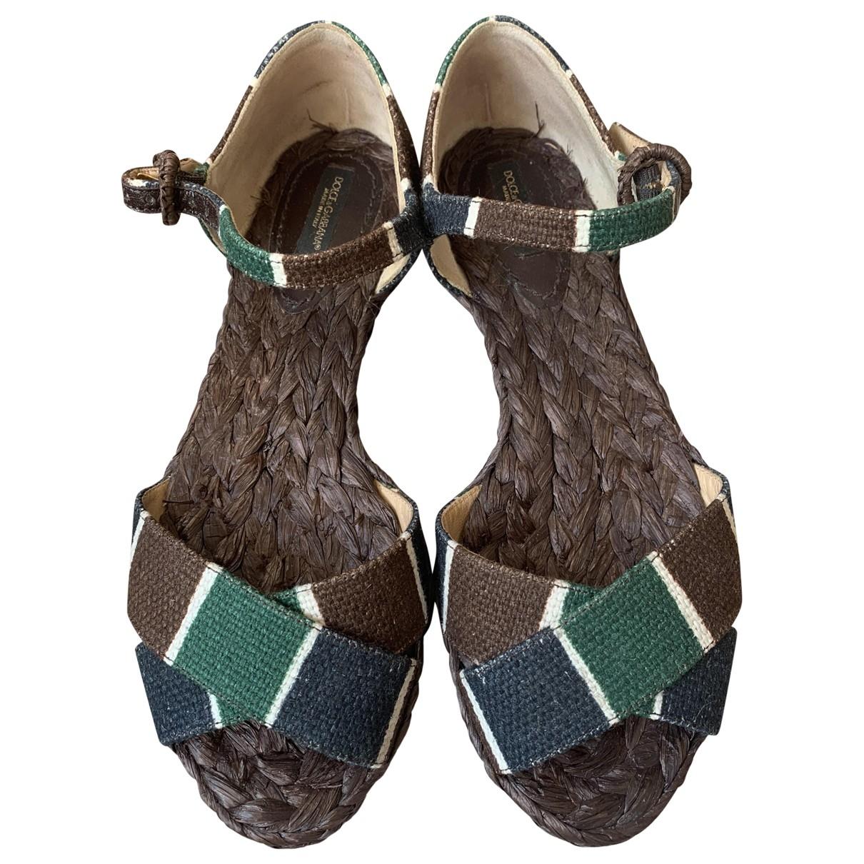 Dolce & Gabbana \N Espadrilles in  Bunt Leinen