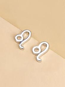 Constellation Symbol Design Stud Earrings