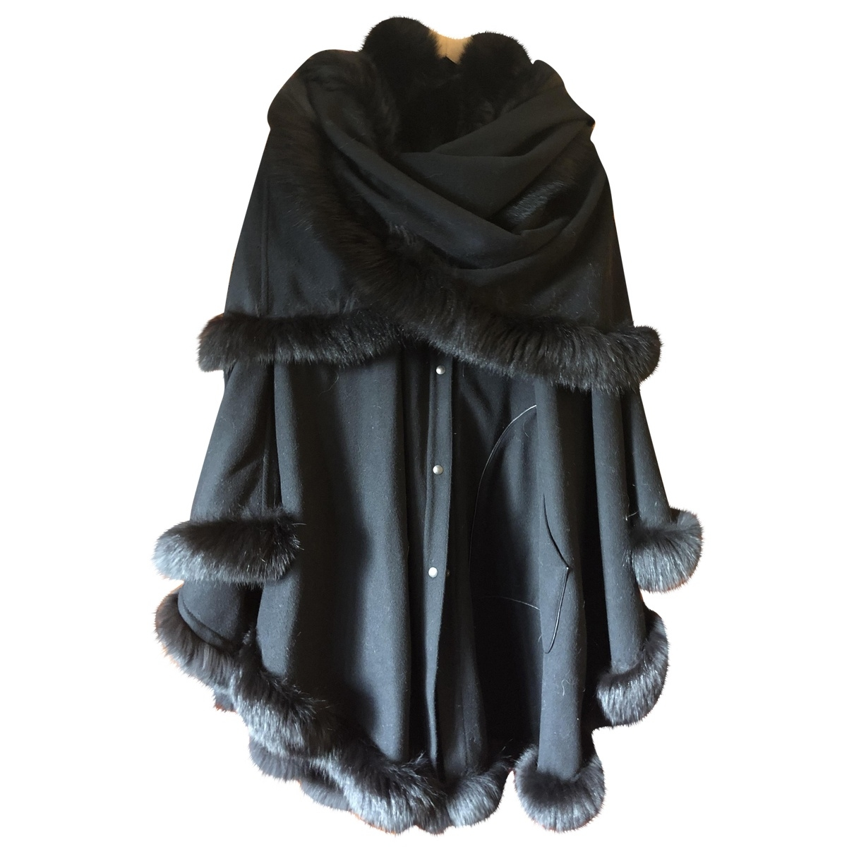 Non Signé / Unsigned \N Black Wool coat for Women One Size International