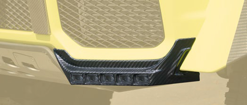 Mansory 66G 102 761 Glossy Carbon Fiber Add-On Bumper Light Bar Mercedes-Benz G-Class W463 99-17