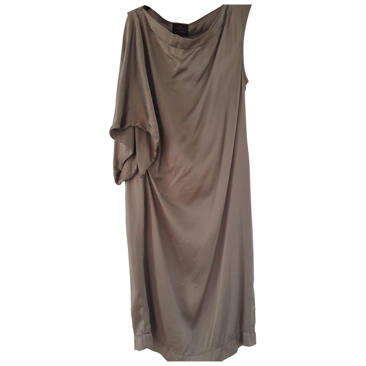 Vestido midi de Seda Vivienne Westwood Anglomania