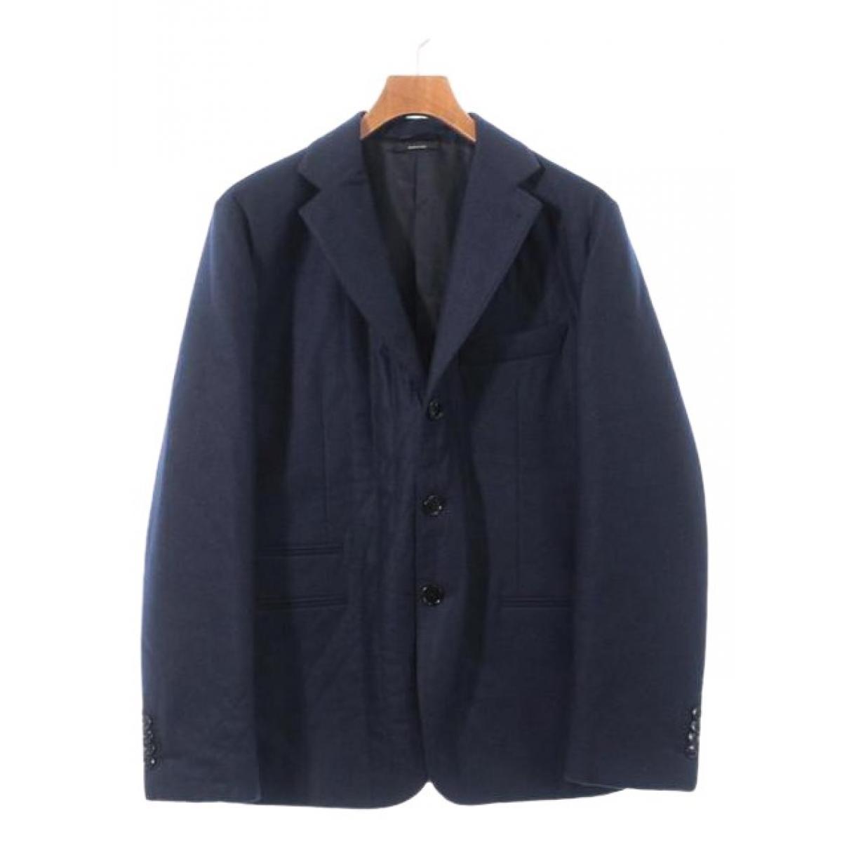 Hermes \N Jacke in  Blau Wolle