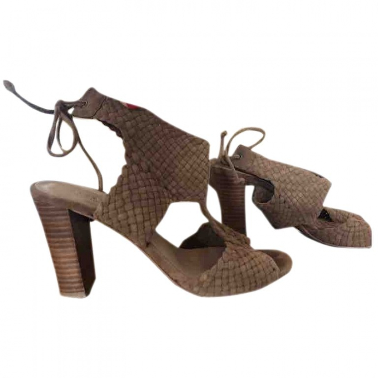 Sézane \N Brown Leather Sandals for Women 38 EU