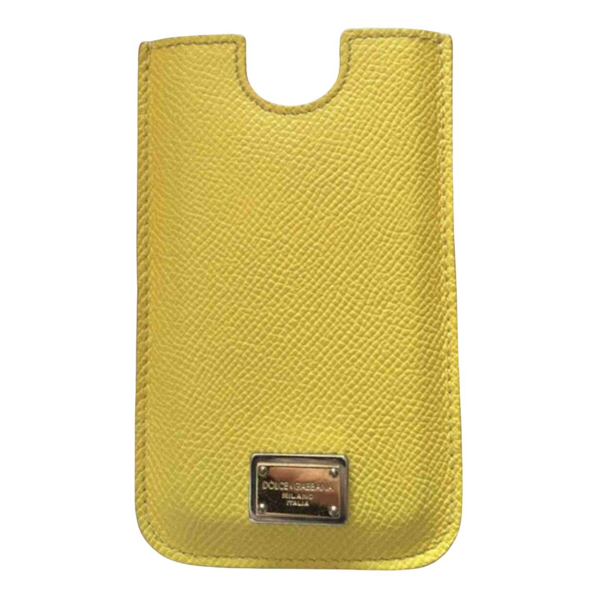 Dolce & Gabbana - Accessoires   pour lifestyle en cuir - jaune