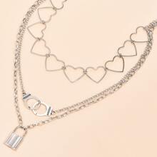 Halskette mit Verschluss Anhaenger