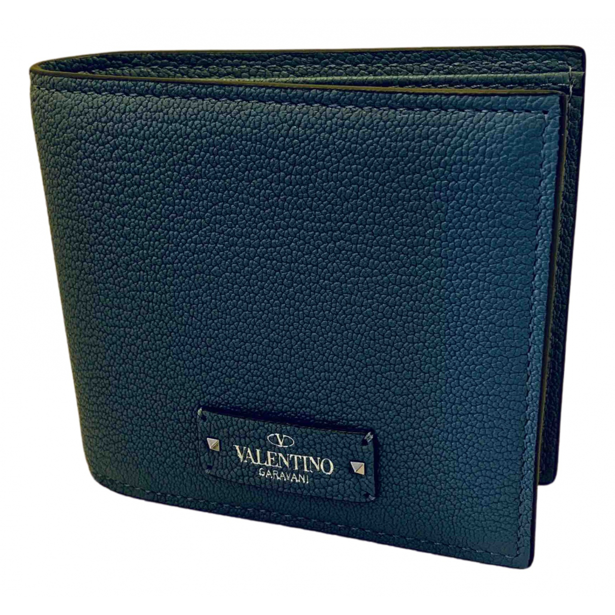Valentino Garavani \N Kleinlederwaren in  Blau Leder