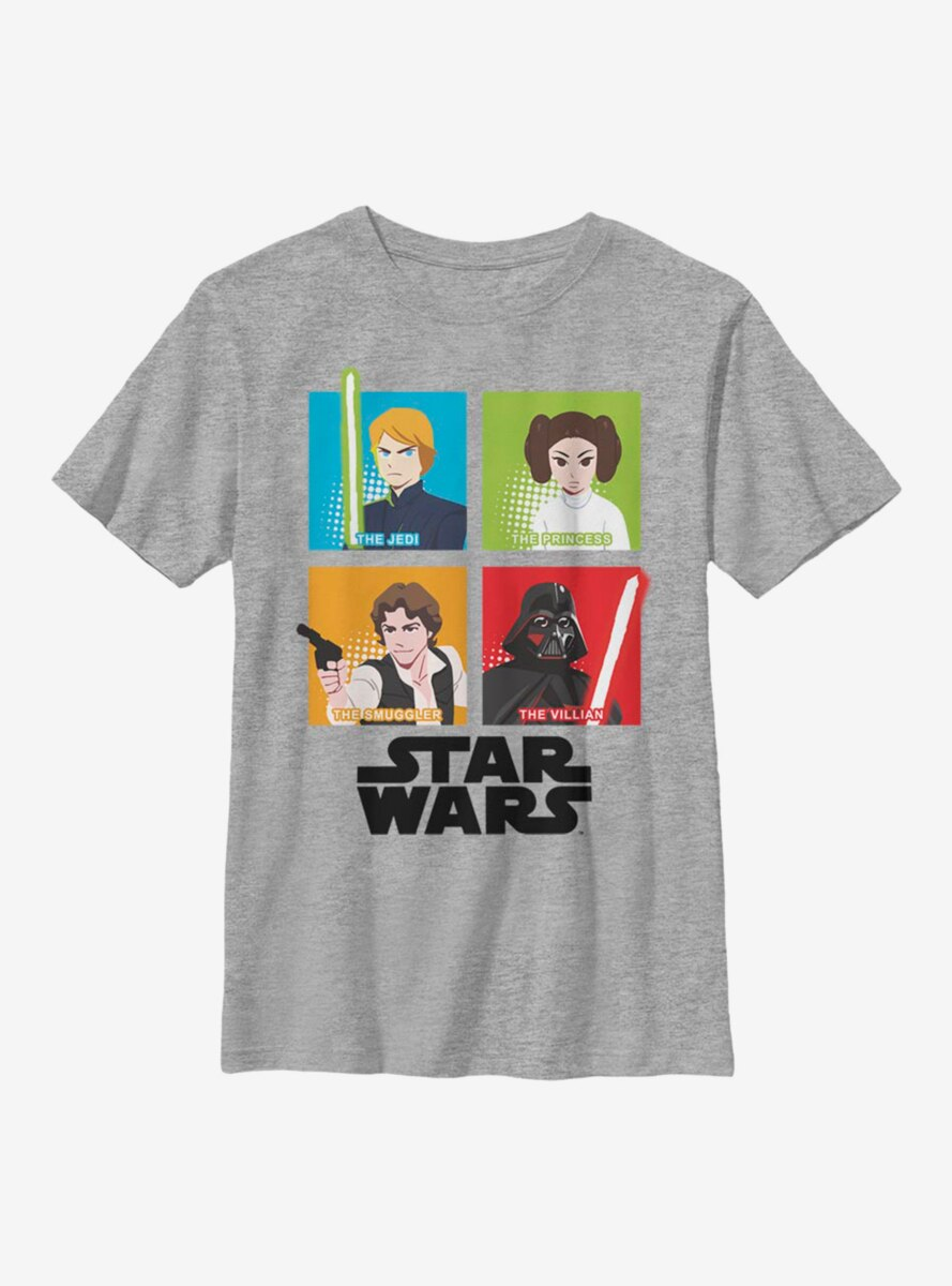 Star Wars Galaxy Adventures Four Square Youth T-Shirt