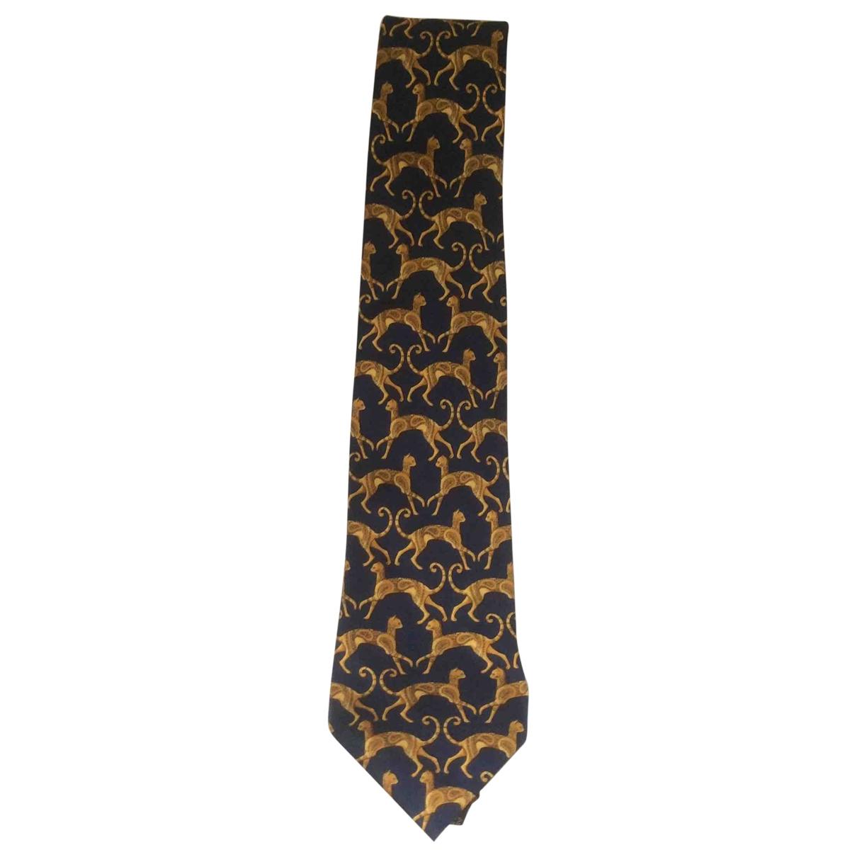 Lanvin - Cravates   pour homme en soie - dore
