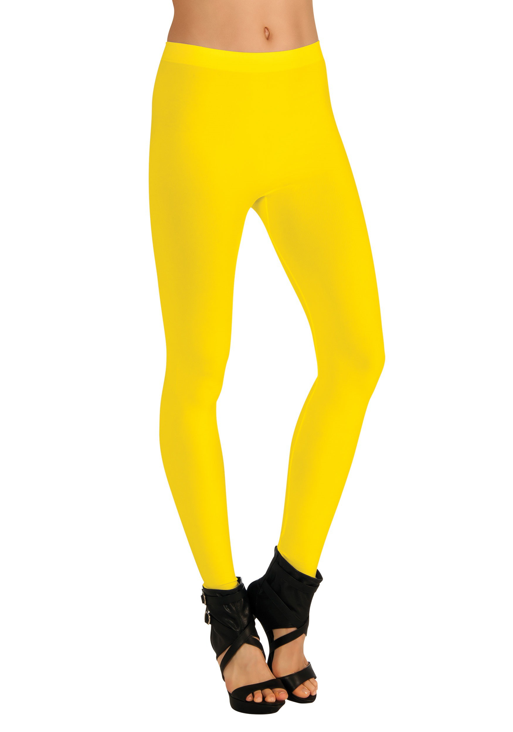 Yellow Womens Leggings