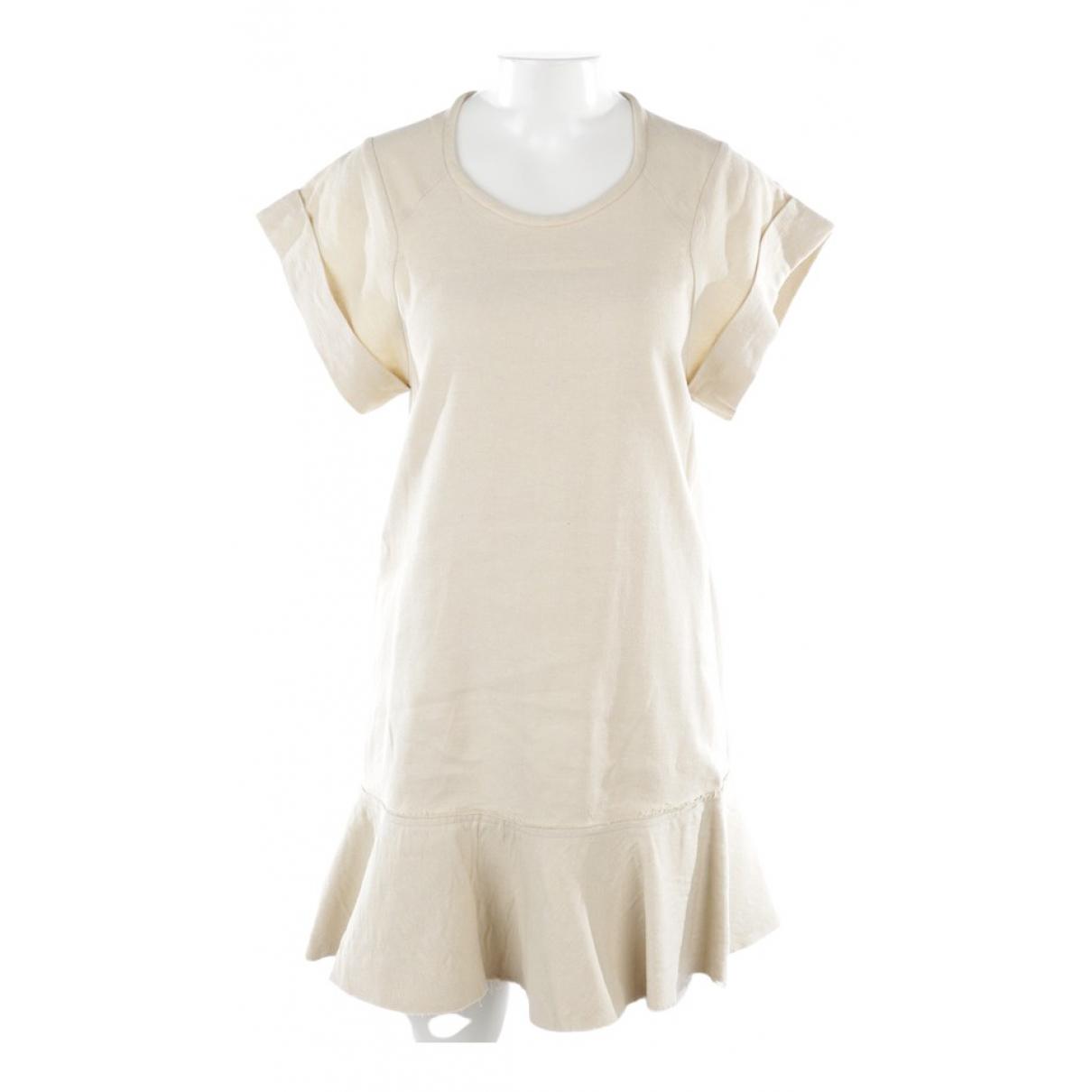 Isabel Marant Etoile \N Kleid in  Beige Leinen