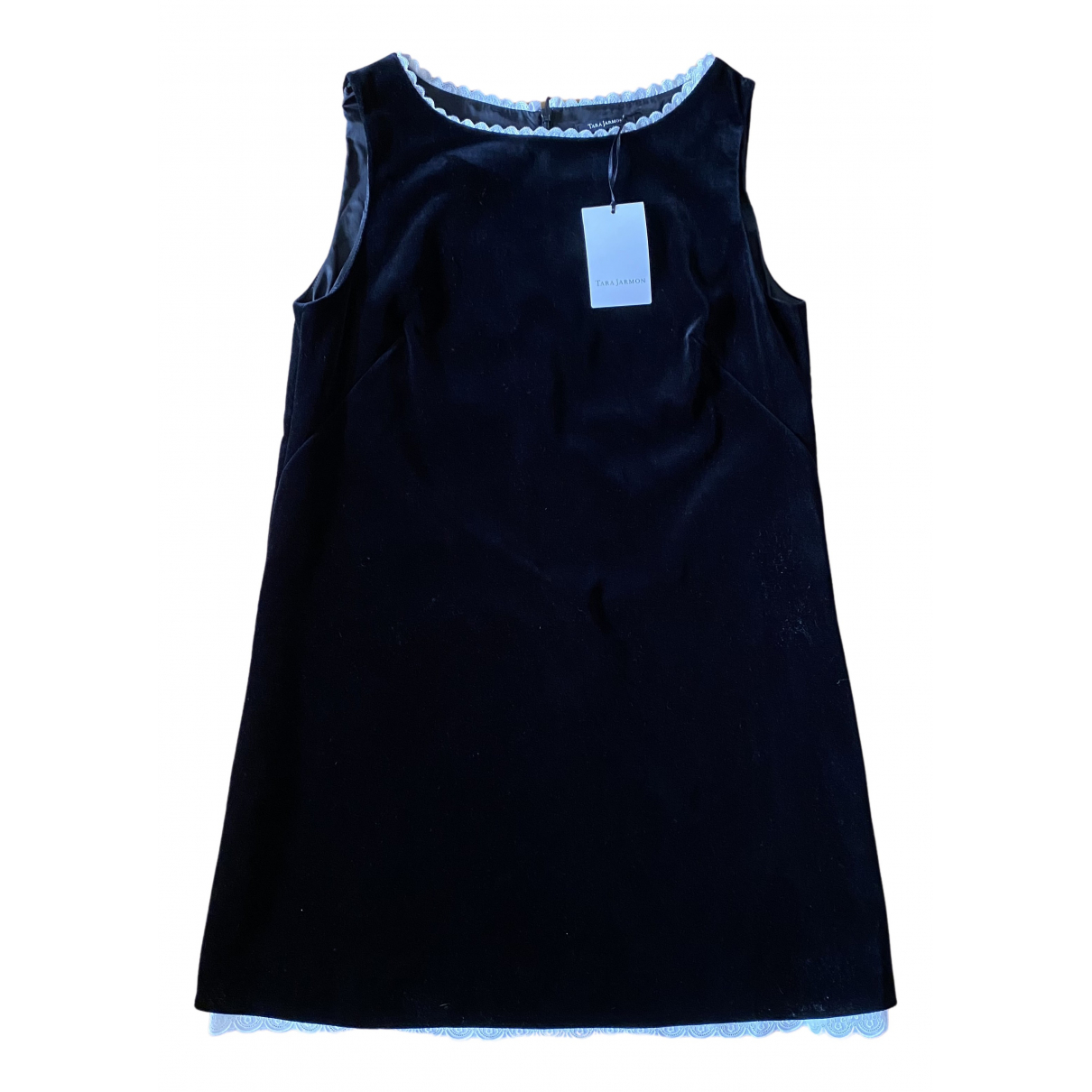 Tara Jarmon N Black Velvet dress for Women 42 FR