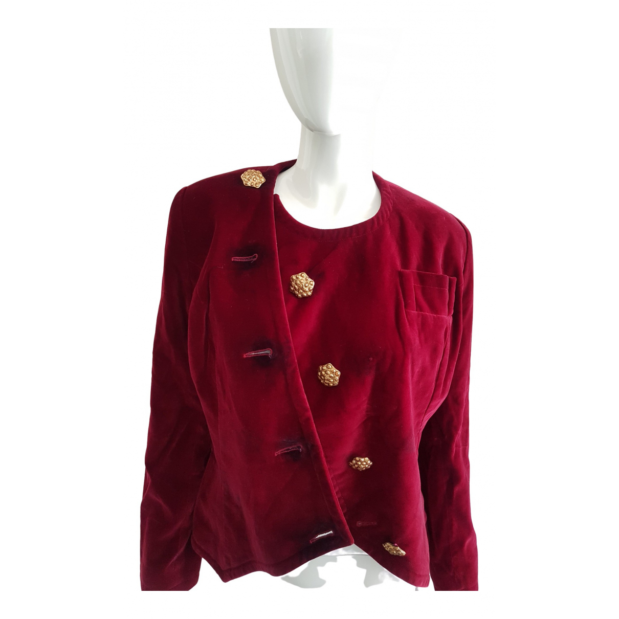 Givenchy \N Burgundy Velvet jacket for Women 38 FR