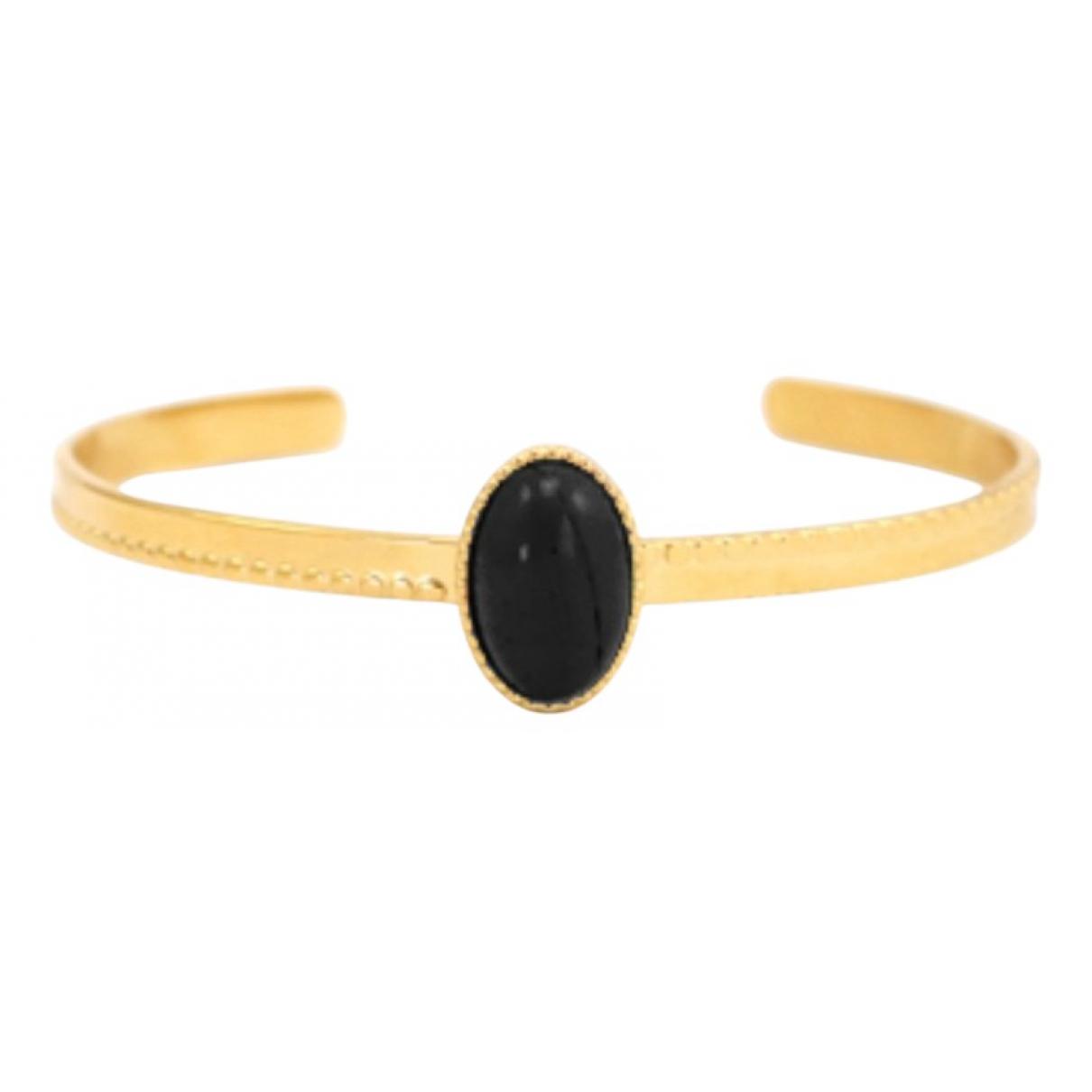 - Bracelet Onyx pour femme en metal - dore