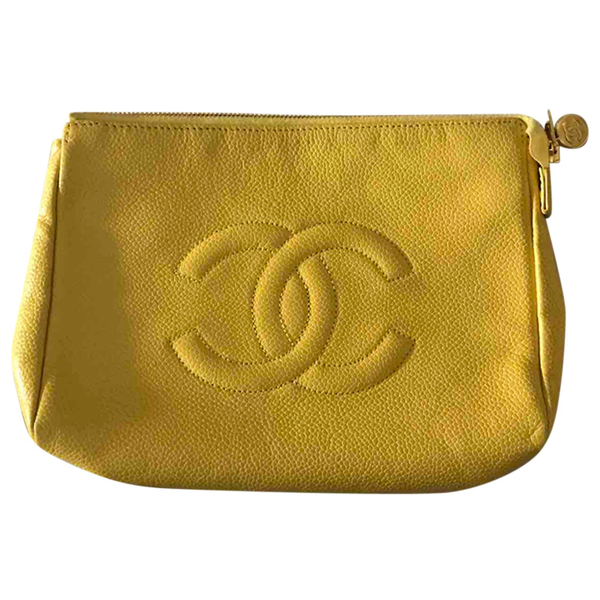 Chanel \N Clutch in  Gelb Leder