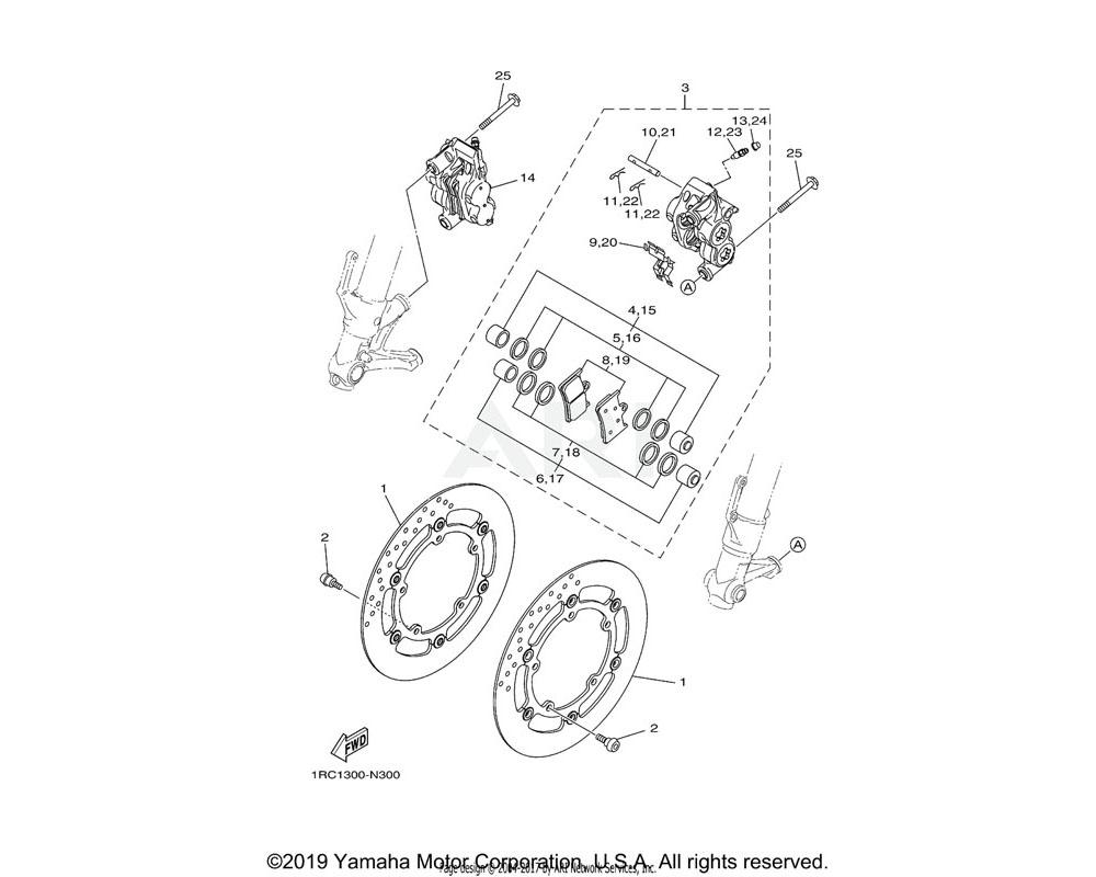 Yamaha OEM 13S-25919-00-00 SUPPORT, PAD