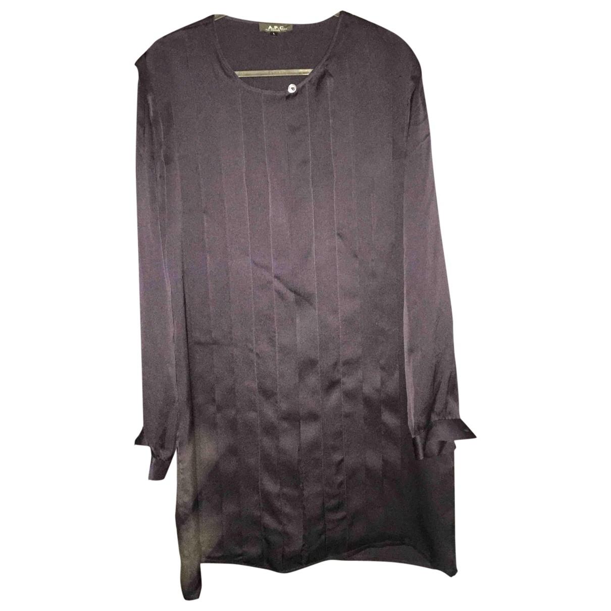 Apc \N Navy Silk dress for Women 38 FR