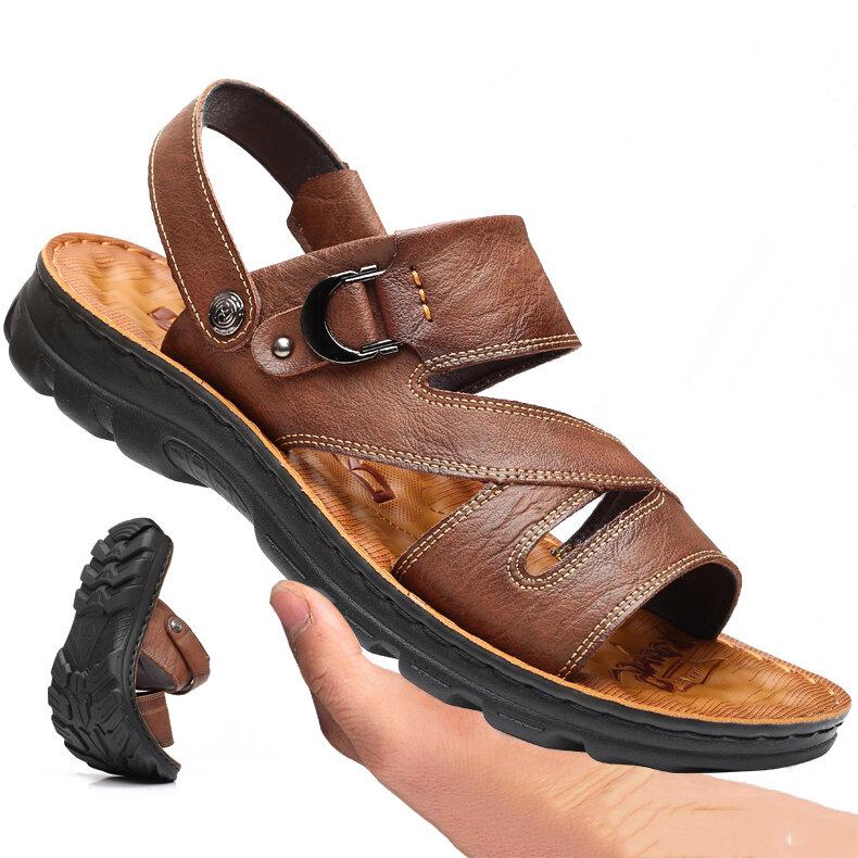 Men Open Toe Outdoor Soft Slip Resistant Beach Water Sandals