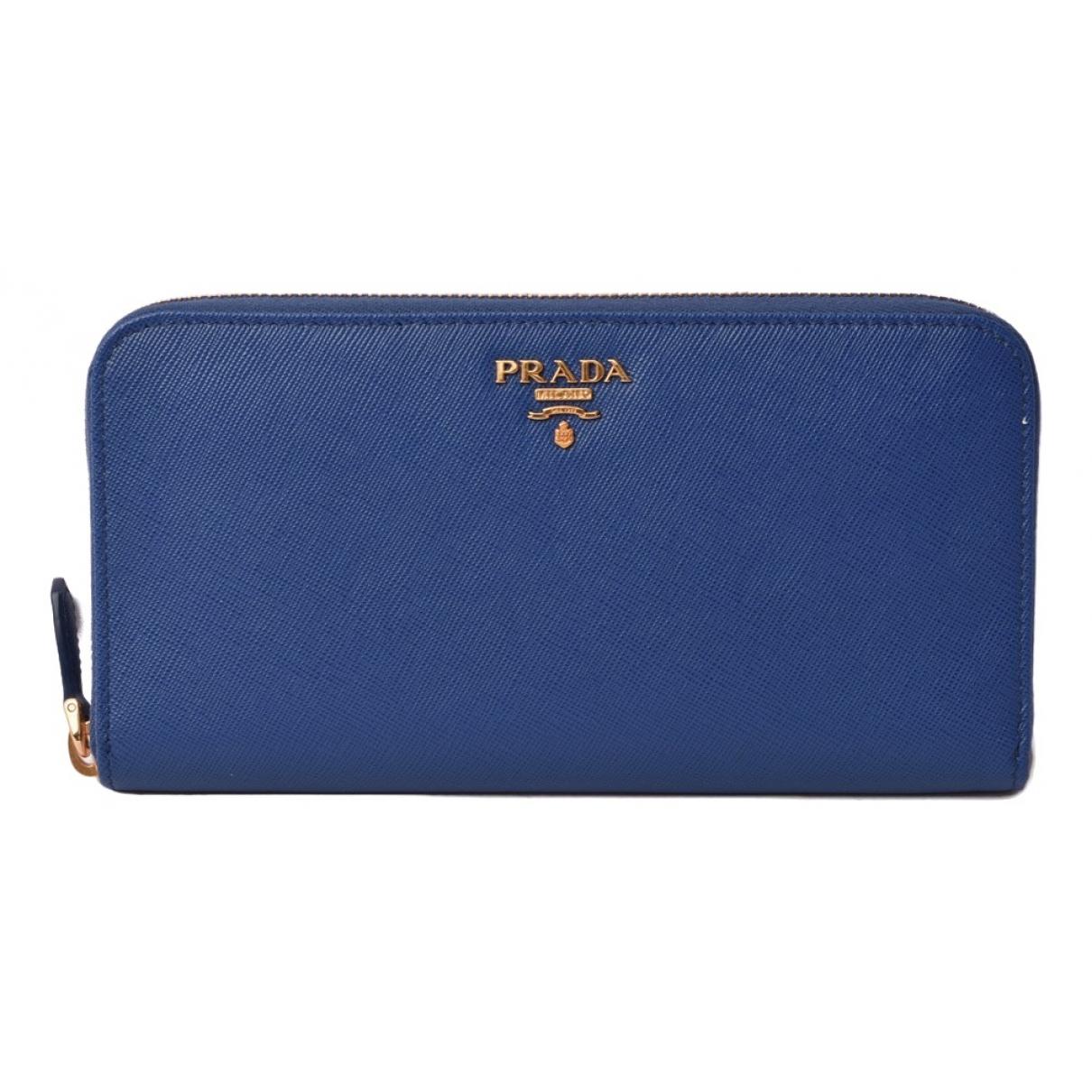 Prada \N Blue Leather wallet for Women \N