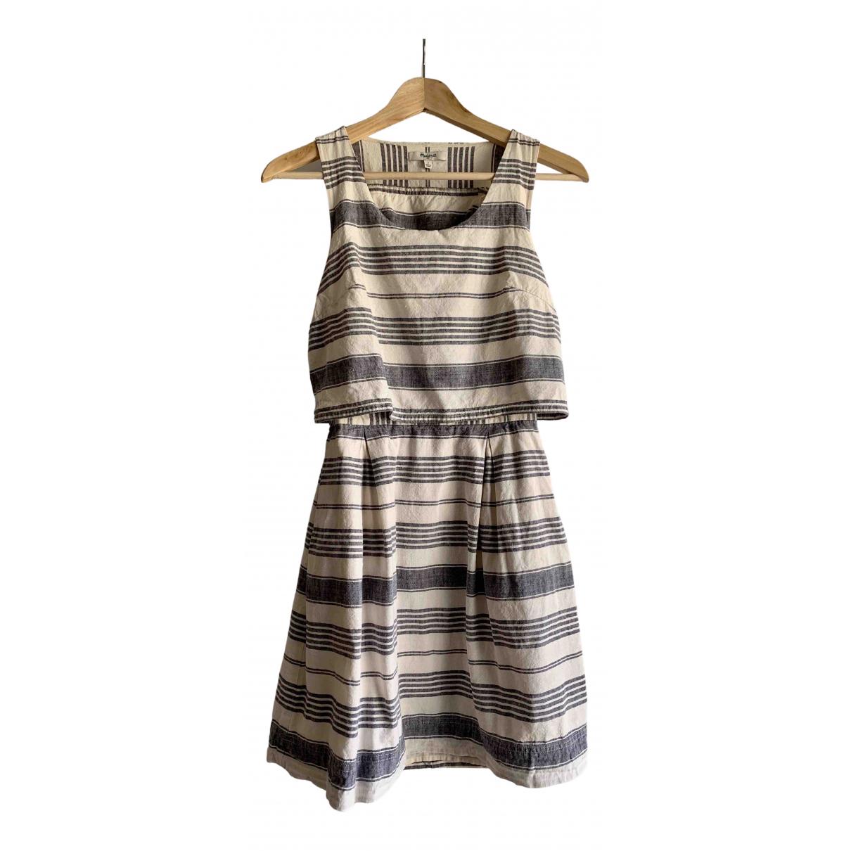 Madewell - Robe   pour femme en lin - bleu