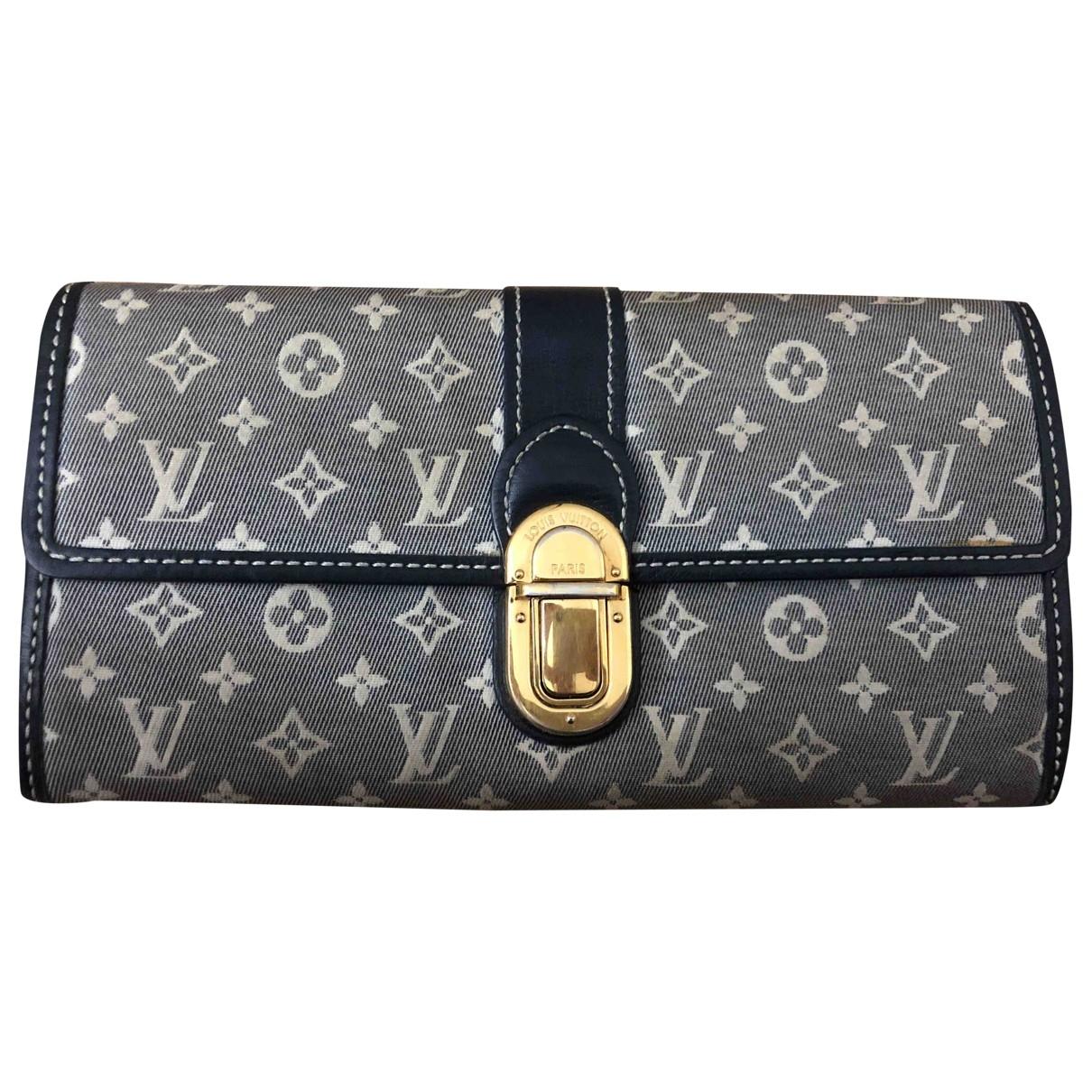 Louis Vuitton - Portefeuille   pour femme en toile - gris