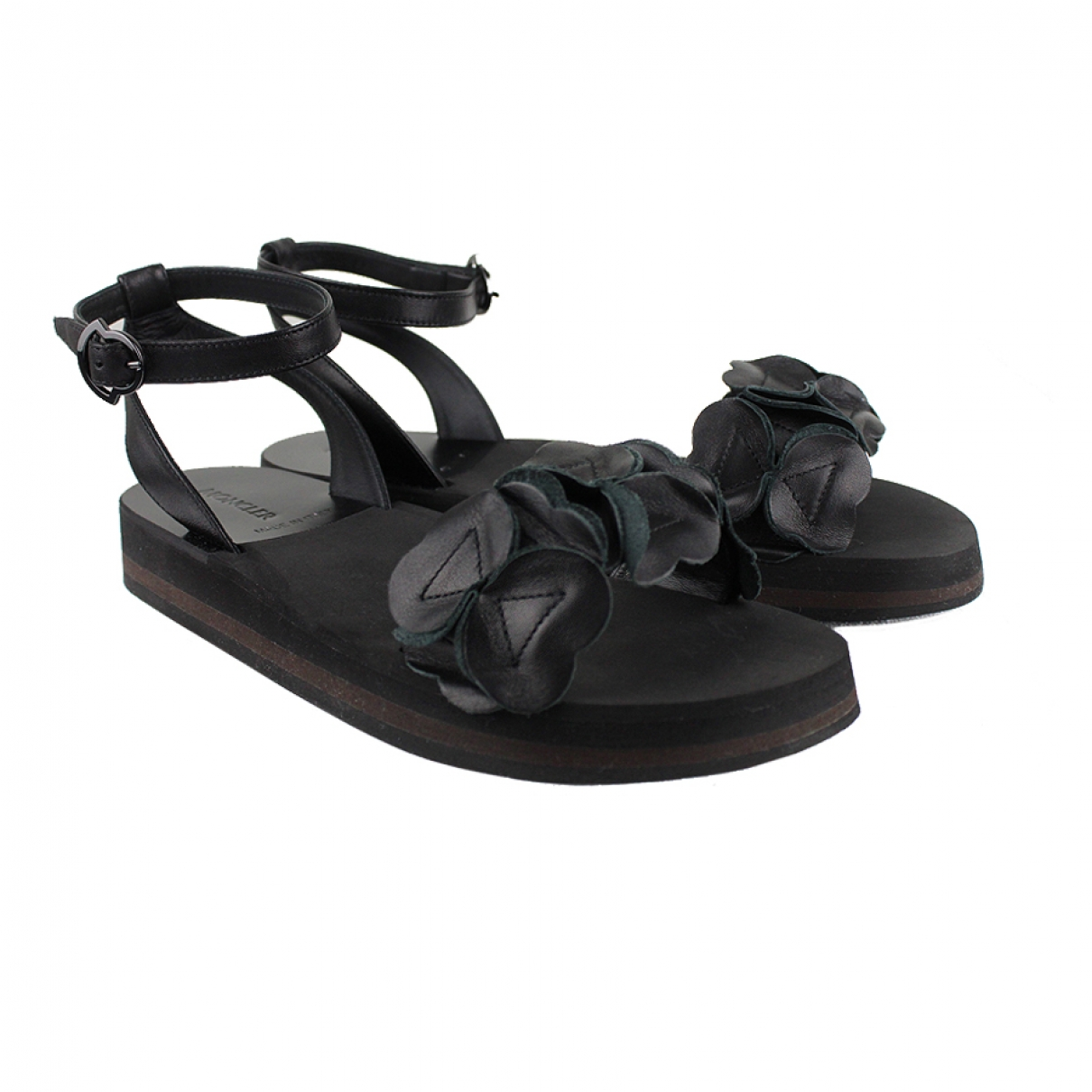 Moncler \N Sandalen in  Schwarz Leder