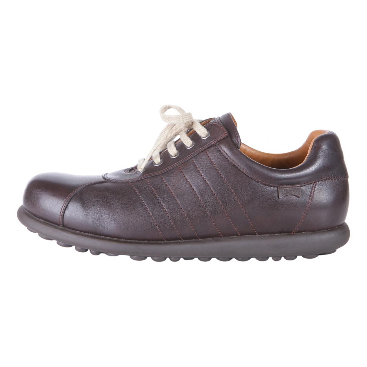 Camper \N Sneakers in  Braun Leder