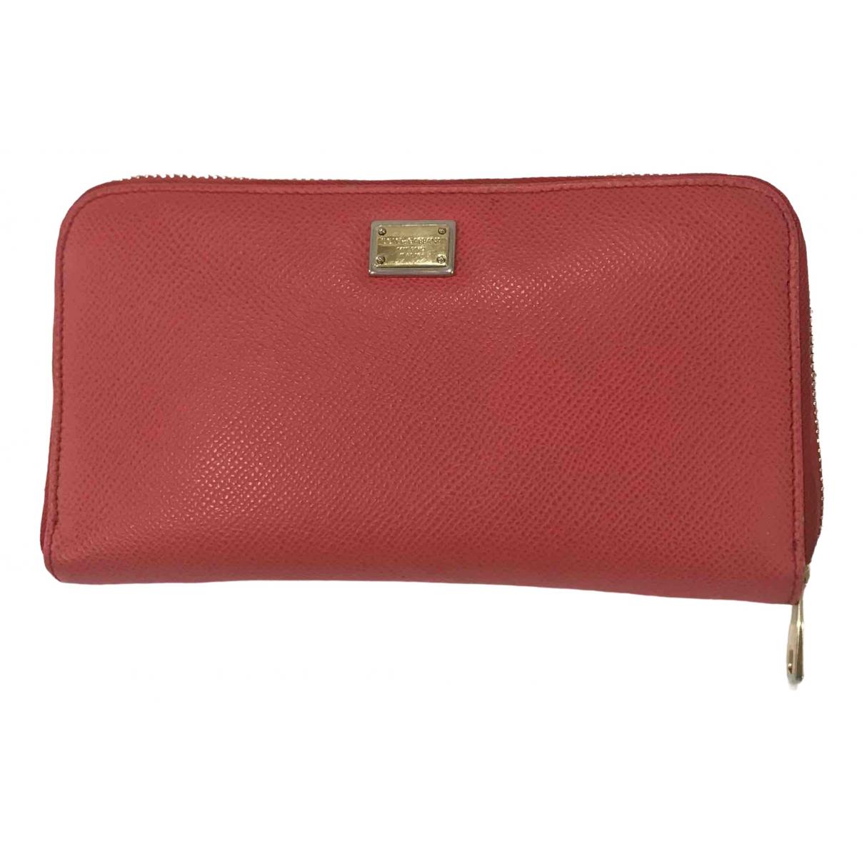 Dolce & Gabbana - Portefeuille   pour femme en cuir - rouge