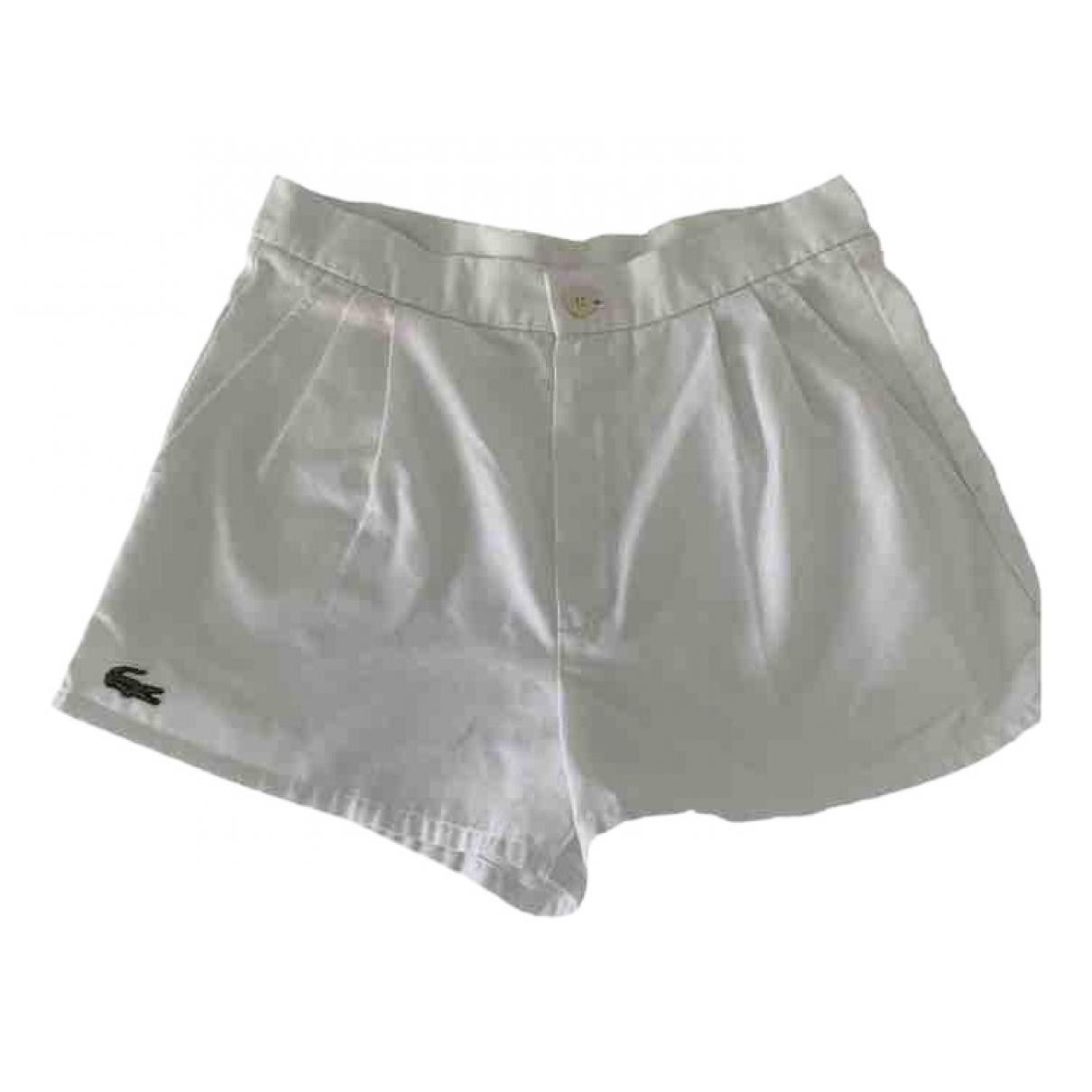 Lacoste - Short   pour femme en coton - blanc