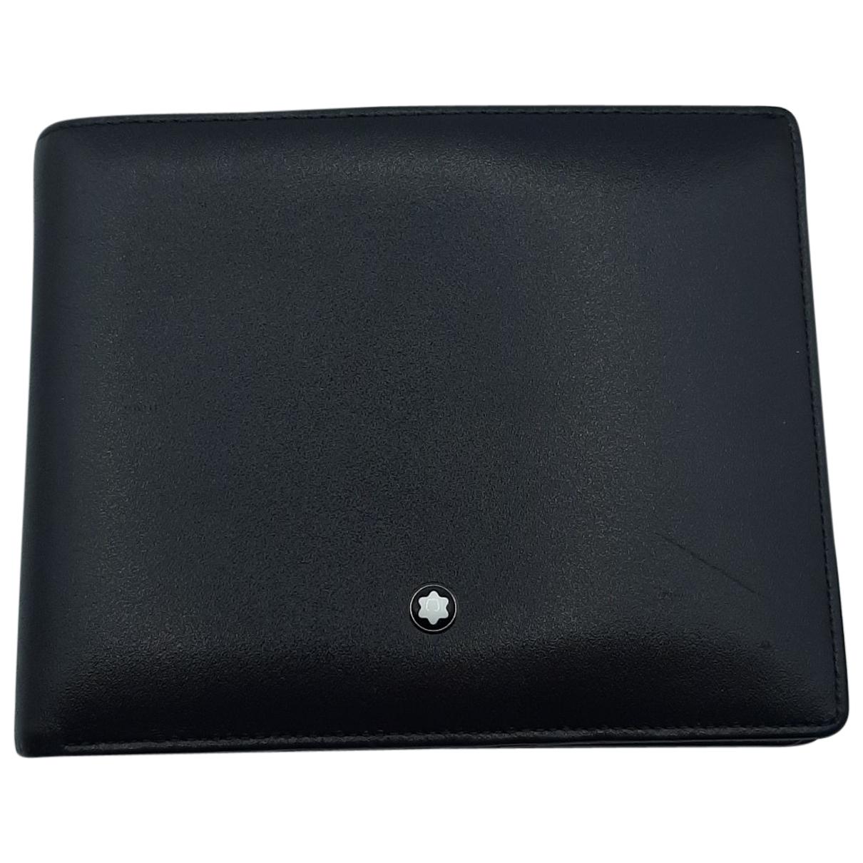 Montblanc - Portefeuille   pour femme en cuir - noir