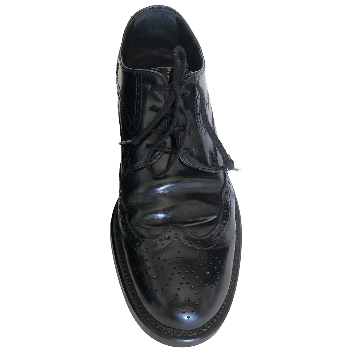 Tod's \N Black Patent leather Lace ups for Men 40 EU