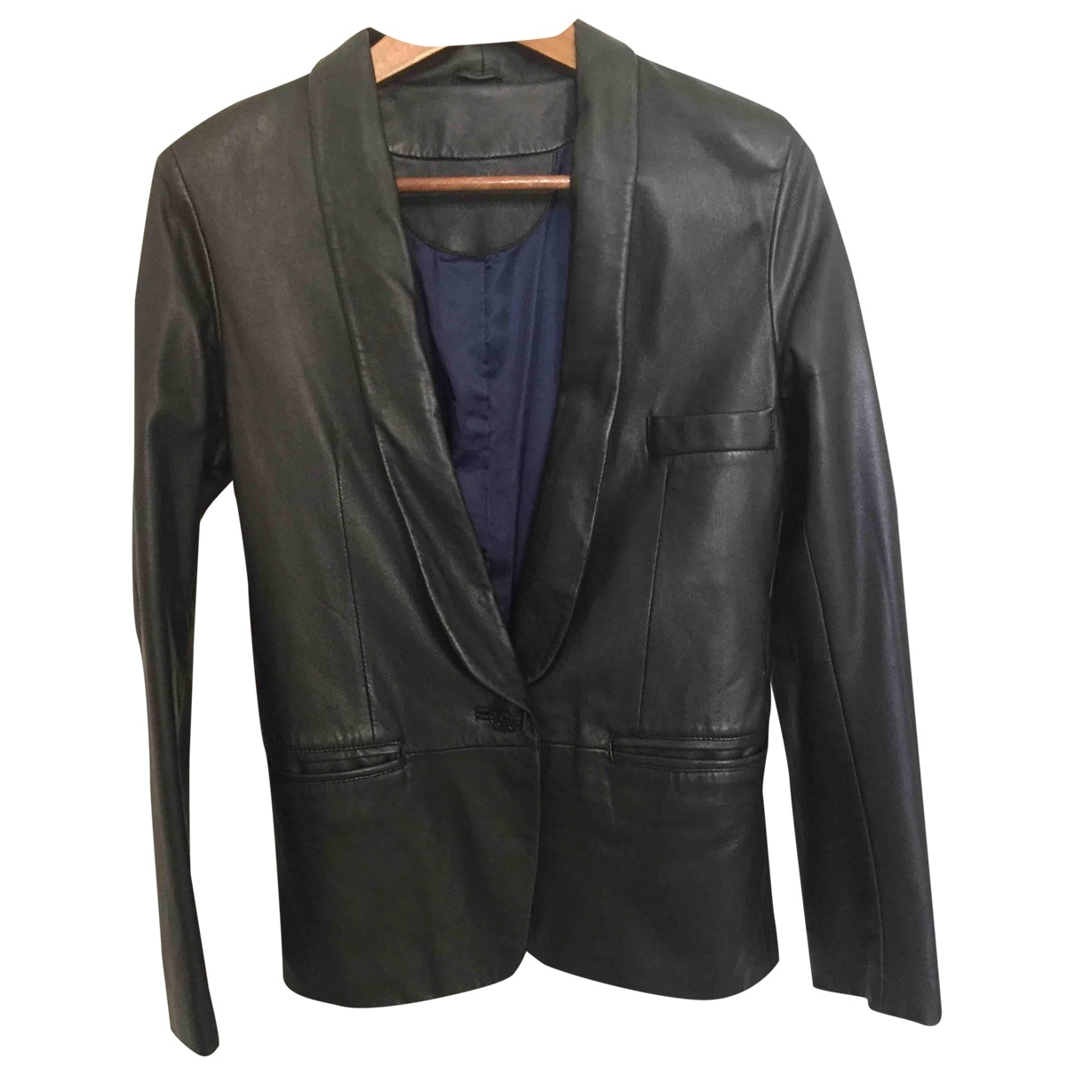 Les Petites \N Black Leather jacket for Women 38 FR