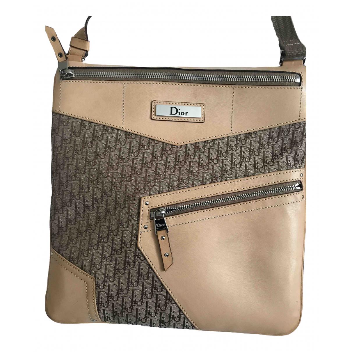 Dior \N Handtasche in  Kamel Leinen