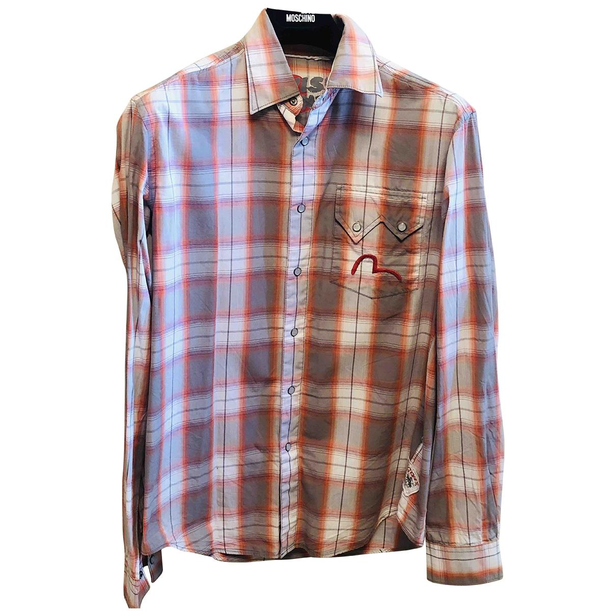 Evisu - Chemises   pour homme en coton - multicolore