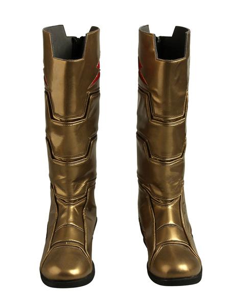 Milanoo DC Comics Captain Marvel Shazam Cosplay Shoes