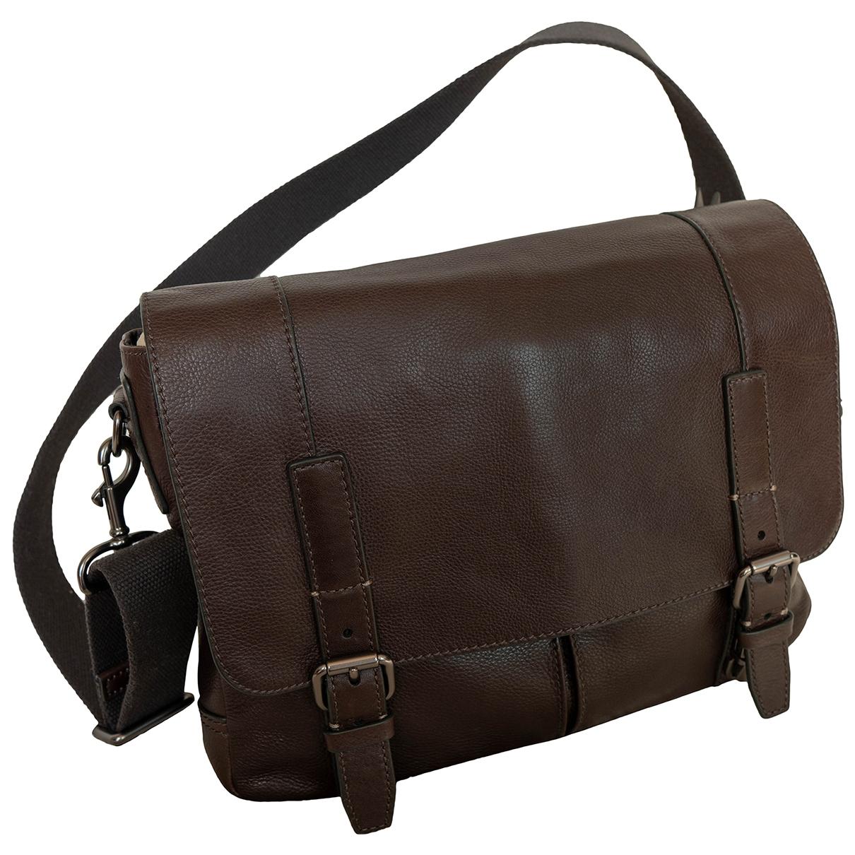 Fossil \N Brown Leather bag for Men \N