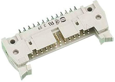 HARTING , SEK 18, 50 Way, 2 Row, Straight PCB Header