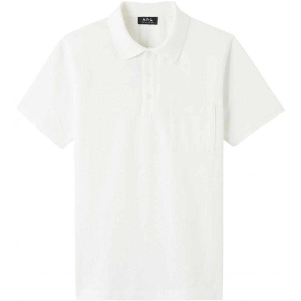 A.p.c Apc Archie Polo Colour: WHITE, Size: LARGE