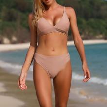 Lace-up Back Bikini Swimsuit