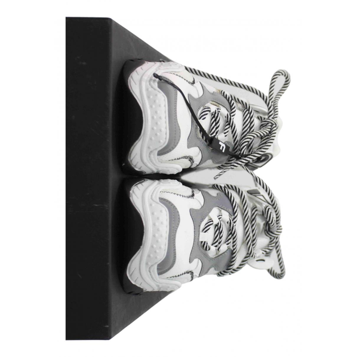 N°21 \N Sneakers in  Weiss Leinen