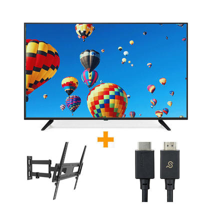 Téléviseur DLED 55 '' UHD 4K UHD + Support mural TV articulant + Câble HDMI 2.1 - PrimeCables®
