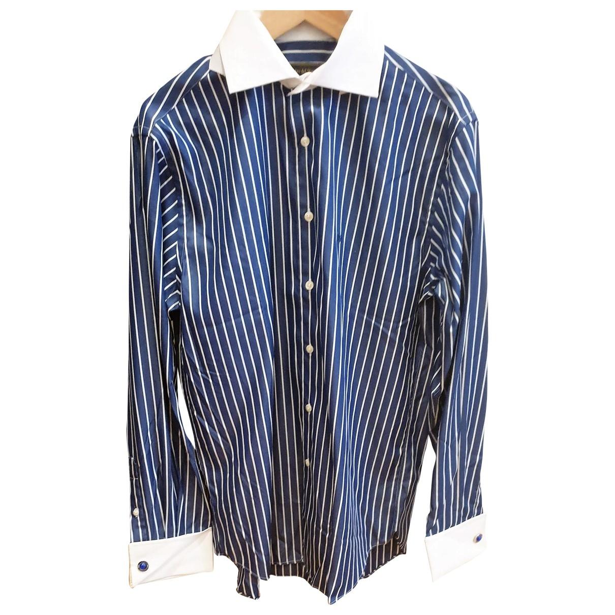 Pedro Del Hierro - Chemises   pour homme en soie - bleu