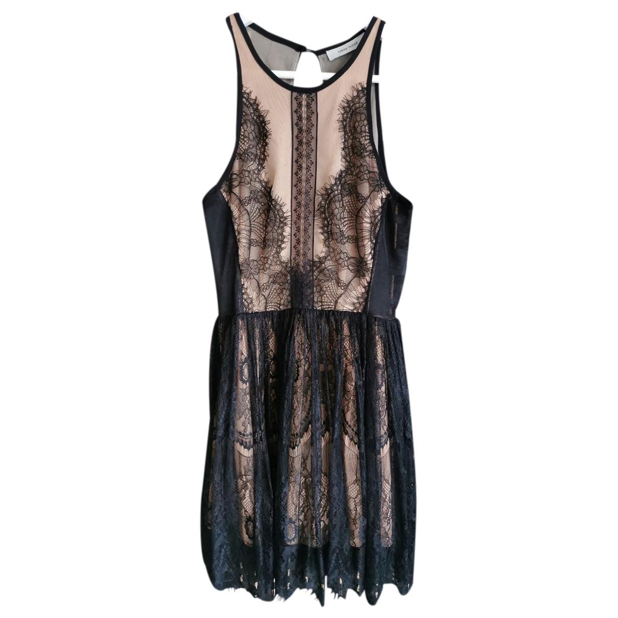 Three Floor Fashion \N Kleid in  Schwarz Polyester