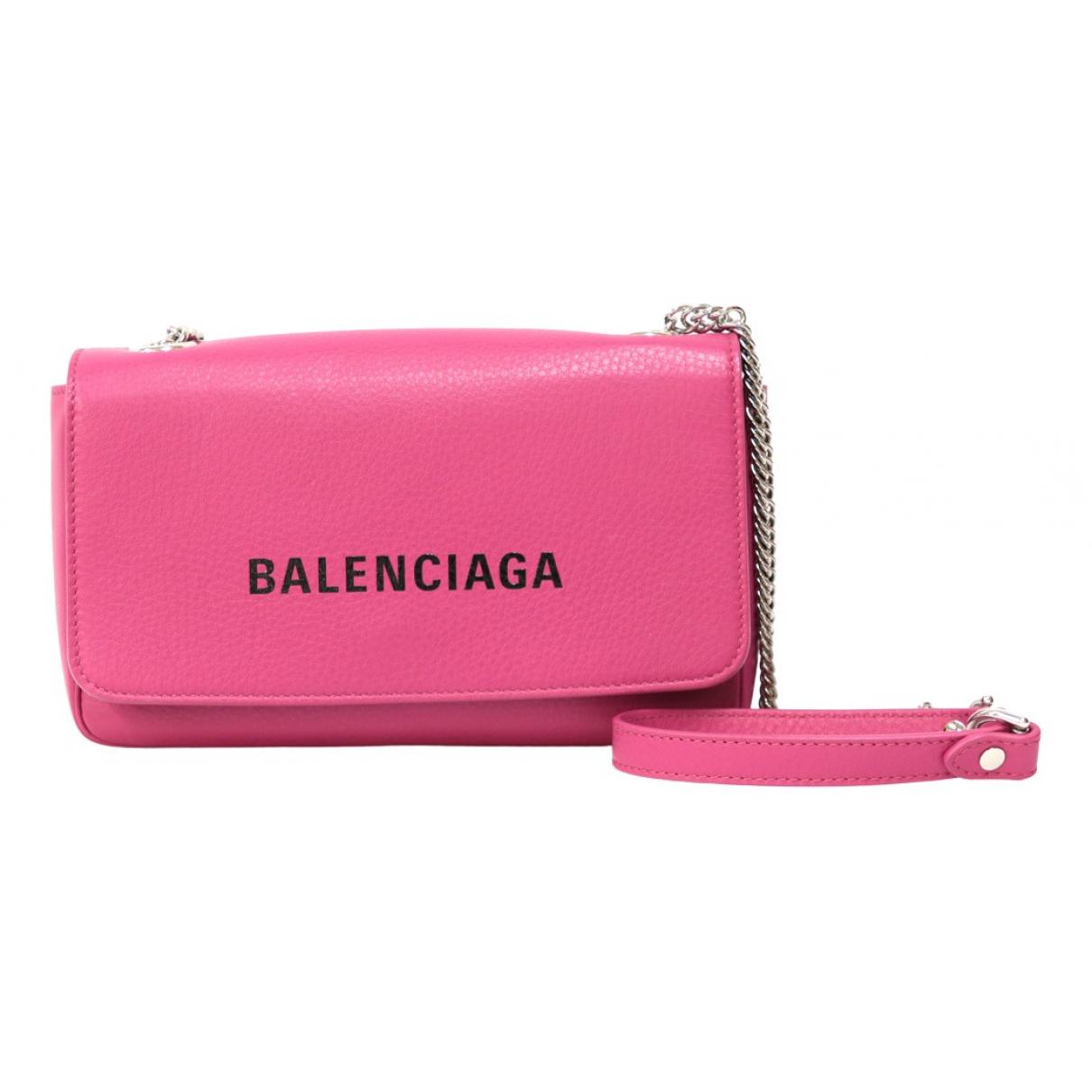 Balenciaga Everyday Pink Leather handbag for Women \N