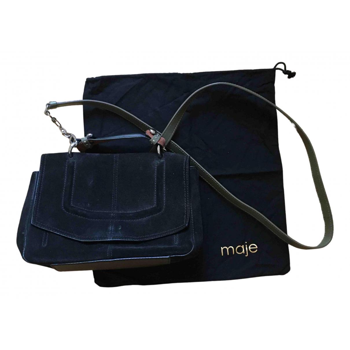 Maje N Black Suede handbag for Women N