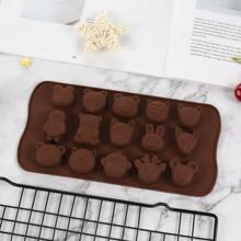 1pc 15 Grid Cartoon Chocolate Mold