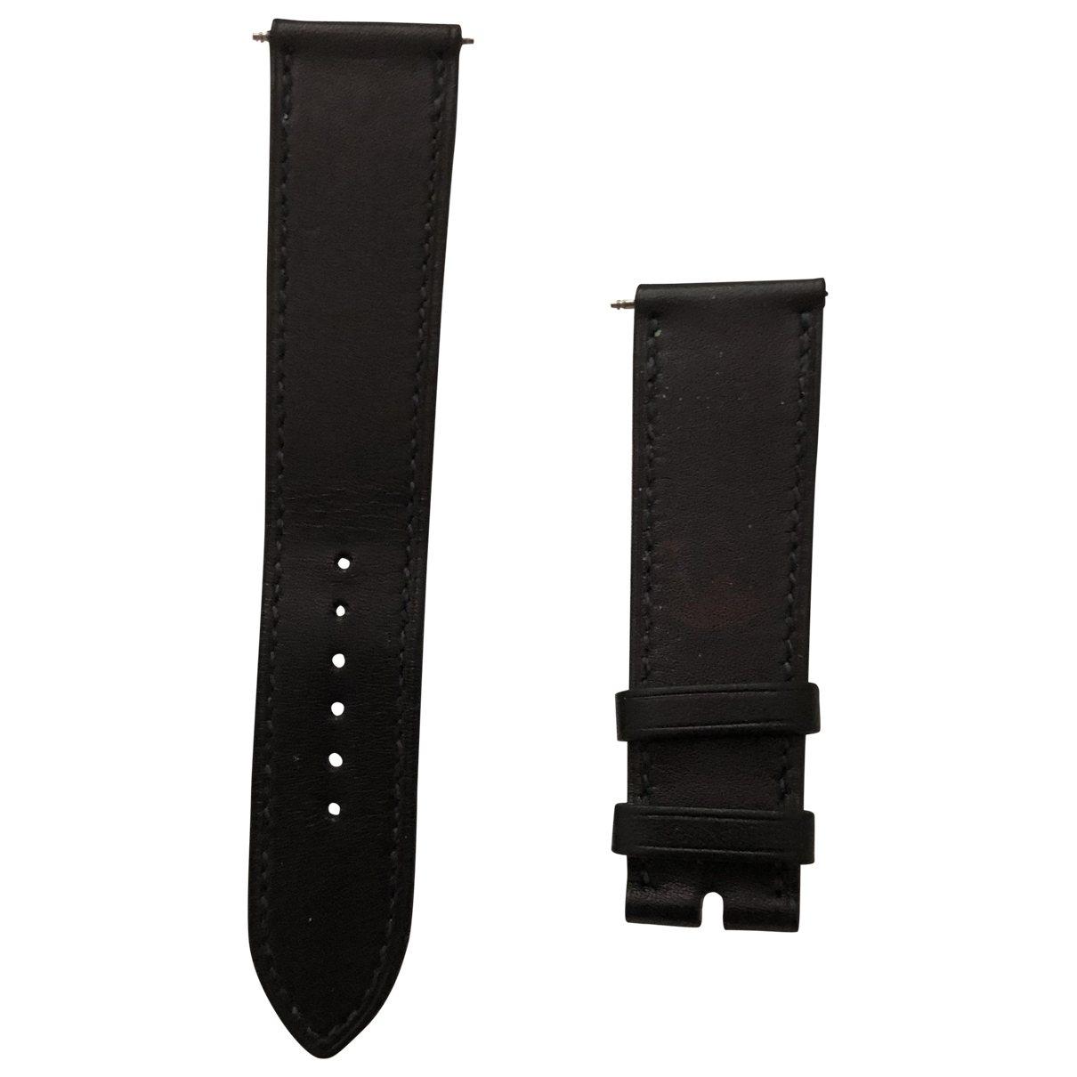 Hermès \N Navy Leather watch for Women \N
