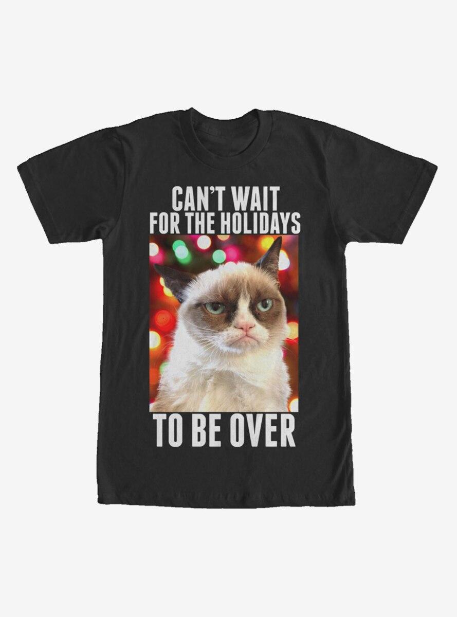 Grumpy Cat Christmas Holidays Over T-Shirt
