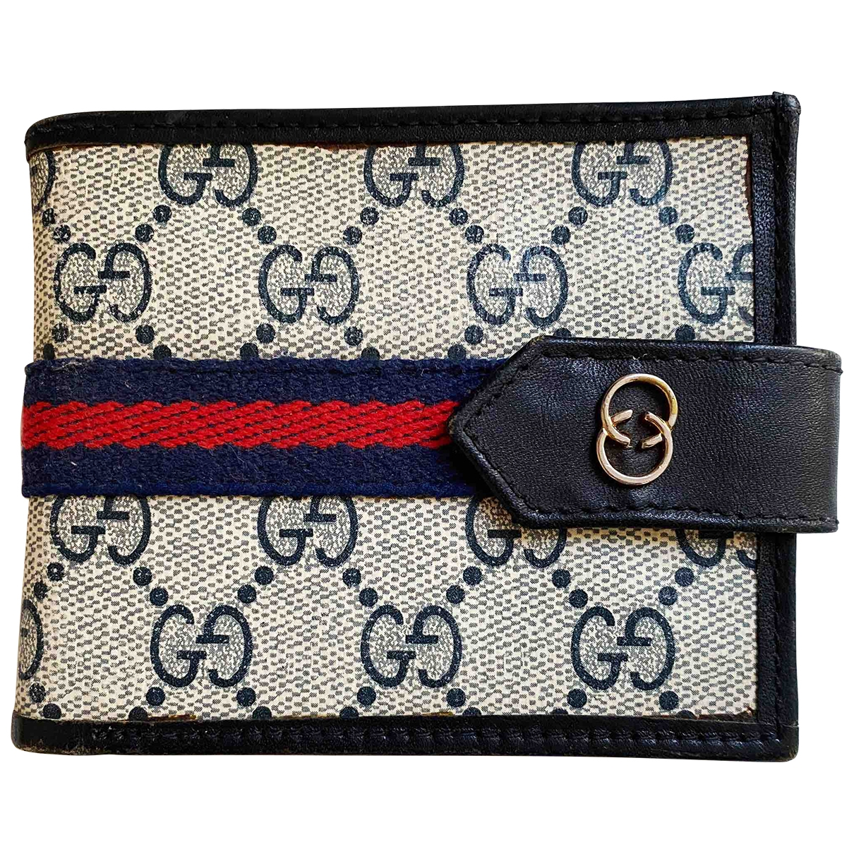Gucci - Portefeuille Ophidia pour femme en toile - marine