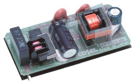 Cosel , 5.4W Embedded Switch Mode Power Supply SMPS, 12V dc, Open Frame
