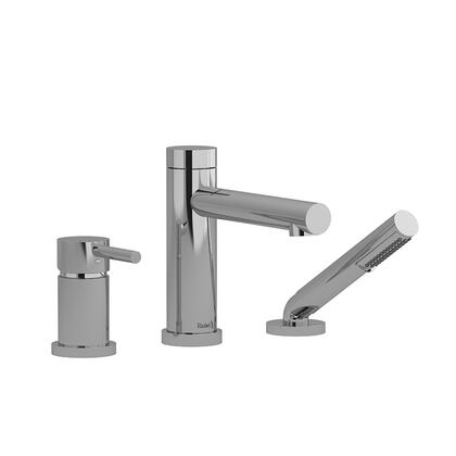 GS TGS16C 3-Piece Pressure Balance Deck Mount Tub Filler with Hand Shower Trim  in